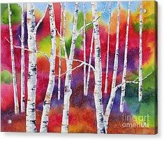 Vivid Autumn Acrylic Print by Deborah Ronglien