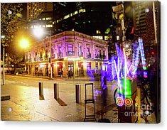 Acrylic Print featuring the photograph Vivid Sydney Circular Quay By Kaye Menner by Kaye Menner