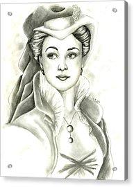 Vivien Acrylic Print by Scarlett Royal