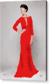 Acrylic Print featuring the digital art Vivienne by Nancy Levan