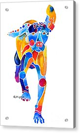 Acrylic Print featuring the painting Vizsla Running  by Jo Lynch