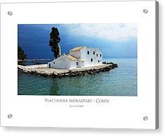 Acrylic Print featuring the digital art Vlachurna Monastary - Corfu by Julian Perry