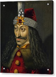 Vlad The Impaler Portrait  Acrylic Print by War Is Hell Store