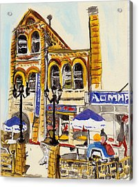 Acrylic Print featuring the painting Vladivostok Train Station by Julie Todd-Cundiff