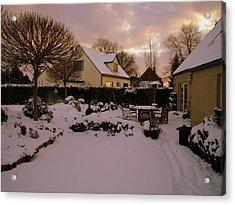 Vlierbeekberg Winter Acrylic Print by Michael Canning