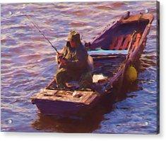 Vltava Fishing Acrylic Print by Shawn Wallwork