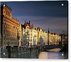 Vltava River Czech Republic Acrylic Print by F S