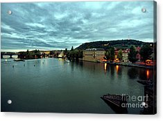 Vltava View 2 Acrylic Print by Madeline Ellis