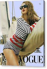Vogue, Coco Chanel, Vintage Nautical Look, Yatching Acrylic Print