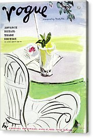 Vogue Cover Illustration Of A Beverage And Book Acrylic Print
