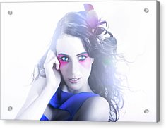 Vogue Style Woman With Beautiful Bright Makeup Acrylic Print by Jorgo Photography - Wall Art Gallery