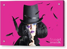 Vogue Woman In Black Costume Acrylic Print by Jorgo Photography - Wall Art Gallery