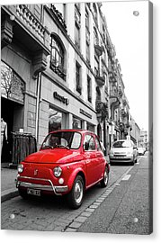 Voiture Rouge Acrylic Print