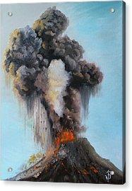 Volcan De Fuego Acrylic Print by Jose Velasquez