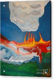 Volcanic Action Acrylic Print