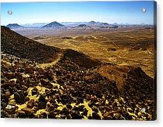 Volcanic Black Desert Acrylic Print by Vera Golovina