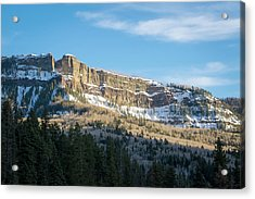 Volcanic Cliffs Of Wolf Creek Pass Acrylic Print
