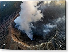 Volcanic Crater From Above Acrylic Print