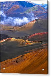 Acrylic Print featuring the photograph Volcanic Crater In Maui by Debbie Karnes