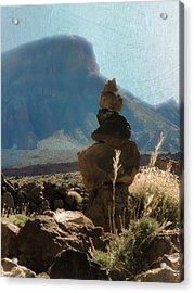 Volcanic Desert Composition Acrylic Print by Loriental Photography