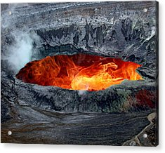 Volcanic Eruption Acrylic Print by Anthony Dezenzio
