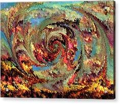 Volcanic Eruption Acrylic Print by Rafi Talby