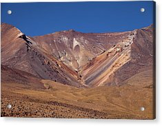 Volcano Crater In Siloli Desert Acrylic Print