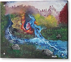Acrylic Print featuring the painting Volcano Delta by Antonio Romero