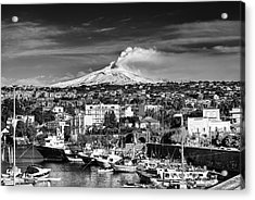 Volcano Etna Seen From Catania - Sicily. Acrylic Print