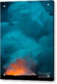 Volcano Smoke And Fire Acrylic Print