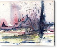 Volcano Acrylic Print by Susan Mott