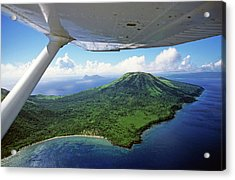 Volcanoes Seen From A Plane On The Island Of Efate Acrylic Print by Sami Sarkis
