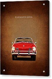Volkswagen Karmann Ghia Acrylic Print