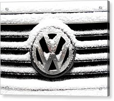 Volkswagen Symbol Under The Snow Acrylic Print