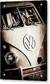 Volkswagen Vw Bus Emblem -1355s Acrylic Print