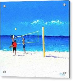 Volleyball Beach Painting Acrylic Print