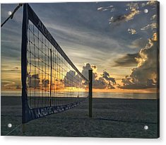 Volleyball Sunrise Acrylic Print