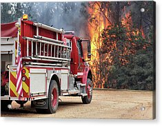 Acrylic Print featuring the photograph Volunteer Firefighters by JC Findley