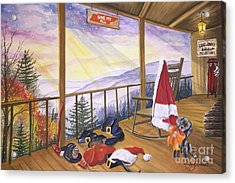Volunteer Santa Acrylic Print by Kimberly Daniel