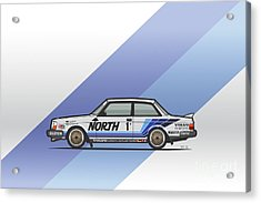 Volvo 240 242 Turbo Group A Homologation Race Car Acrylic Print by Monkey Crisis On Mars