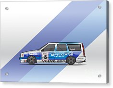 Volvo 850r Twr British Touring Car Championship  Acrylic Print by Monkey Crisis On Mars