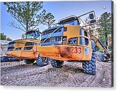 Volvo Heavy Equipment  Acrylic Print by JC Findley