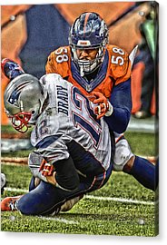 Von Miller Denver Broncos Art Acrylic Print