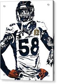 Von Miller Denver Broncos Pixel Art 2 Acrylic Print