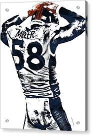 Von Miller Denver Broncos Pixel Art 4 Acrylic Print