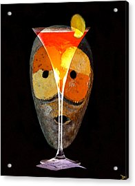 Acrylic Print featuring the painting Voodoo Martini by David Lee Thompson
