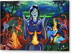 Voodoo Woman Acrylic Print by Geoff Greene