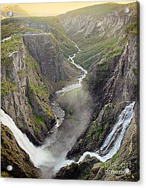 Voringsfossen Waterfall And Canyon Acrylic Print