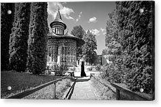 Voronet Monastery - Romania - Black And White Photography Acrylic Print by Giuseppe Milo