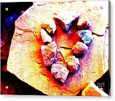 Vortex Heart Red Rocks Acrylic Print